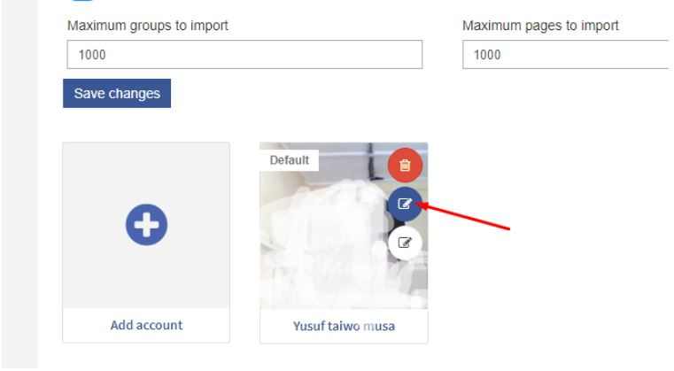 How to Import newly Joined Groups (Refresh FB Account)