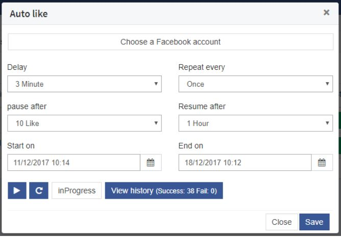 How to Set Up Facebook Auto Like on FBGAPP 2